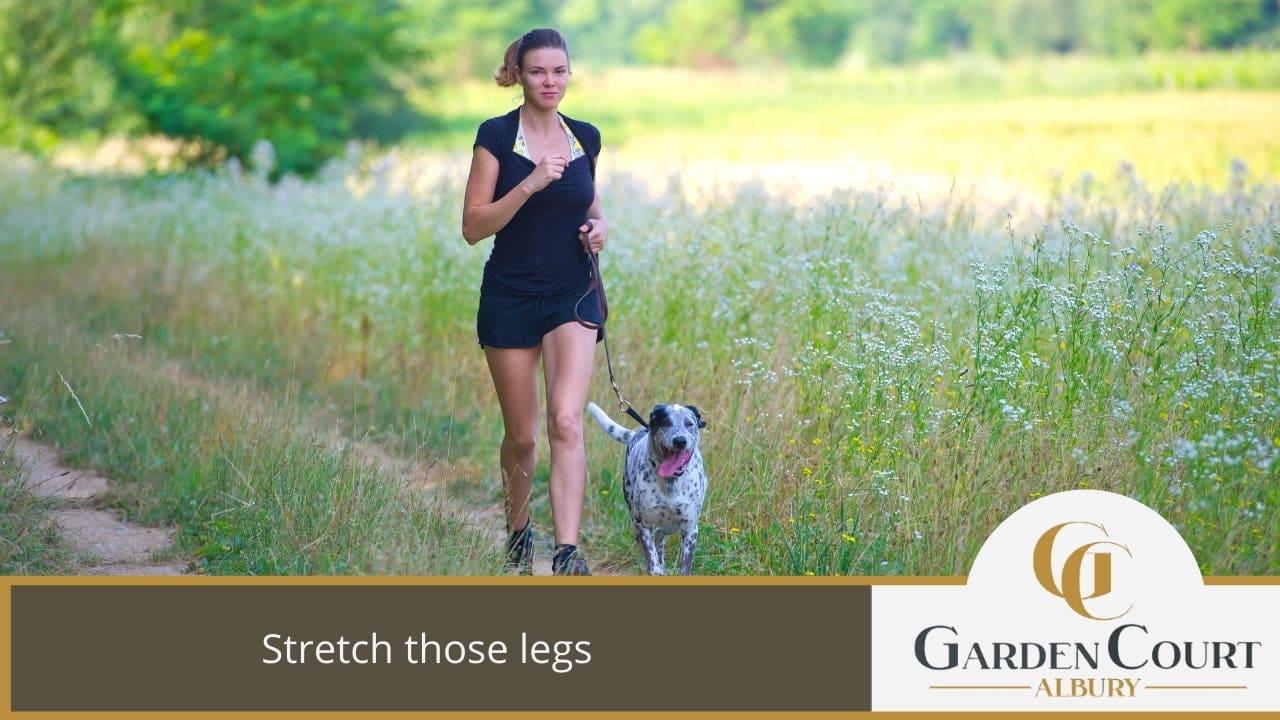 Stretch those legs