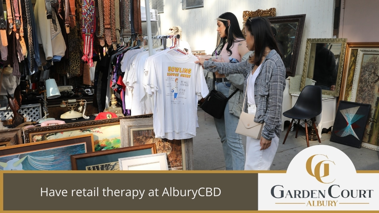 Have retail therapy at AlburyCBD